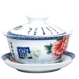 "Гайвань ""Красный цветок"", фарфор, 100 мл - фото 5962"