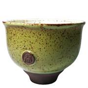 "Пиала ""Тайваньский цветок"", светло-зелёная, глина, 100 мл"