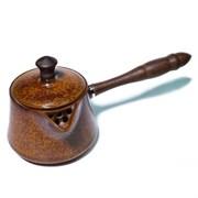 """Чайник """"Дерево"""" с деревянной ручкой, глина, 250 мл"""