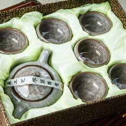 набор # 4 (чайник, 6 пиал), светло-серый - фото 5103