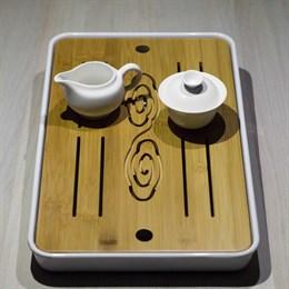 Чабань, пластик/бамбук, 42*26*4 - фото 5306