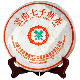 Лао шен пуэр 8582 2001 г. (тайваньское хранение) 357 гр - фото 5524
