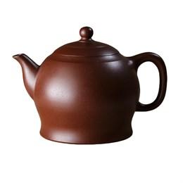 мастеровой чайник ручной работы, коричневая и чёрная глина, 220 мл, Тайвань - фото 5670