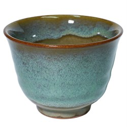 Пиала бирюзовая, глина, Япония