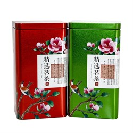 """Банка для чая """"Цветущая сакура"""", жесть, зелёная - фото 6638"""
