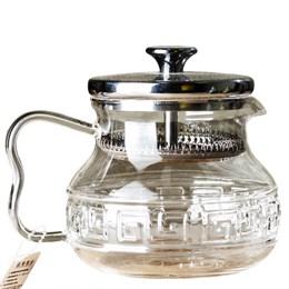 """чайник с ситом """"Древняя Греция"""", стекло, 600 мл - фото 6904"""
