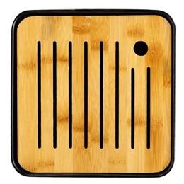 Чабань, пластик/бамбук, 20х20х2,5 - фото 7171