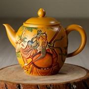 мастеровой чайник ручной работы #11, глина, Тайвань, 300 мл