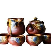 чайный набор, глина с обливной глазурью, ручная работа, Тайвань