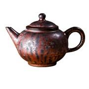 мастеровой чайник ручной работы, красная глина с глазурью, 180 мл, Тайвань