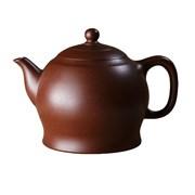 мастеровой чайник ручной работы, коричневая и чёрная глина, 220 мл, Тайвань