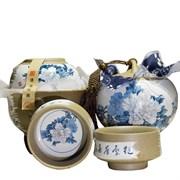 чайный набор в японском стиле (чахай, чайница, 2 пиалы)