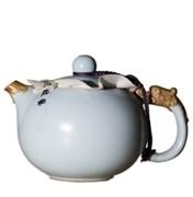 """чайник """"Дракон"""", глина с голубой глазурью, 200 мл"""