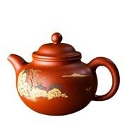 чайник исинский с ручной росписью, красная глина, 150 мл