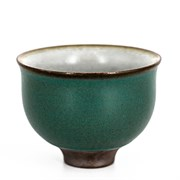 "Пиала ""тайваньский цветок"", тёмно-зелёная, фарфор, 50мл"